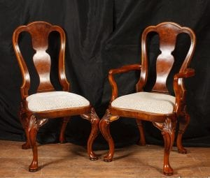 Set Queen Anne Dining Chairs Walnut Chair 10 Seats-1372395847-zoom-63