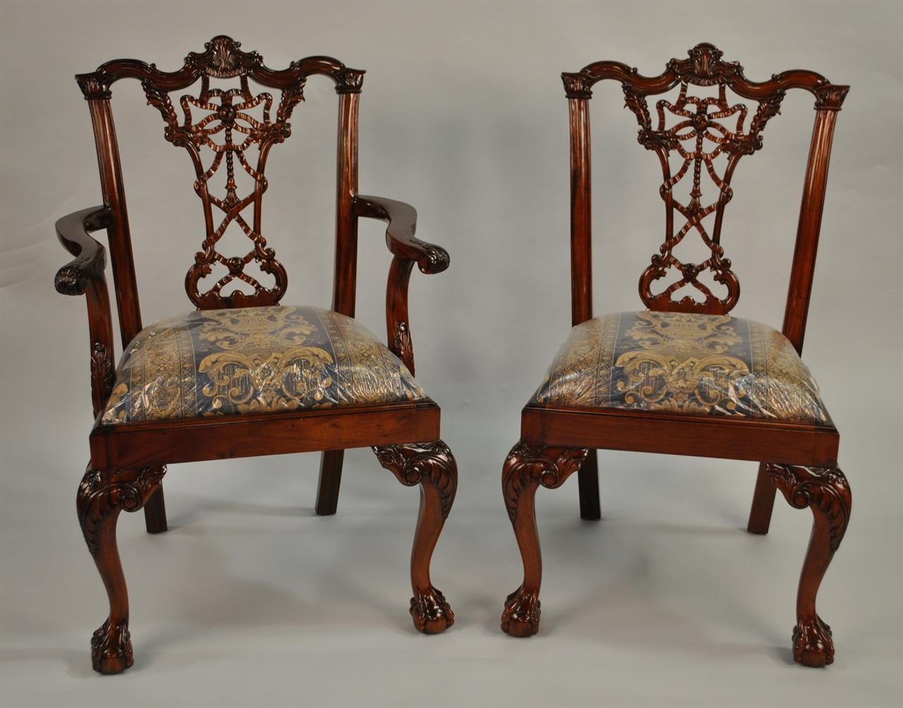 Thomas sheraton chair - Unique Chippendale Dining Chairs
