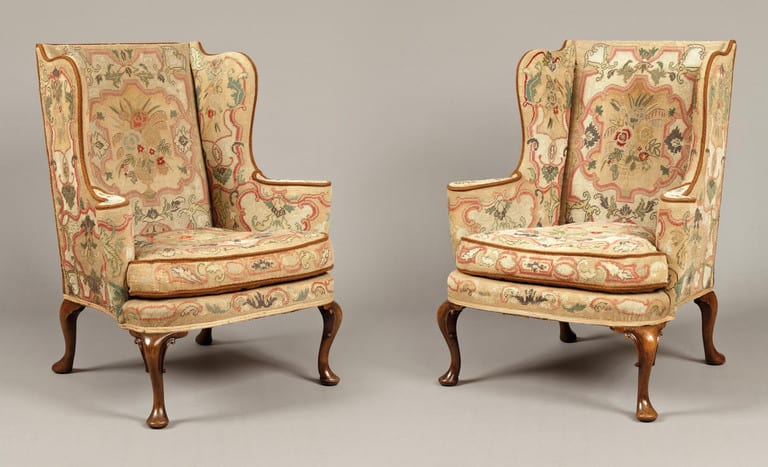 7817_Pair_Tapestry_Wing_Chairs_l - Iconic Antique Chair Design (Part 2) -
